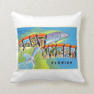 Fort Myers Florida FL Old Vintage Travel Souvenir Throw Pillow