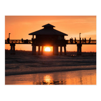 Fort Myers Pier Sunset Postcard