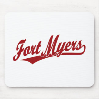 Fort Myers script logo in red Mouse Pad