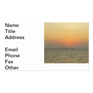 Fort Myers Sunset Business Card