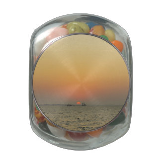 Fort Myers Sunset Jelly Belly Candy Jar