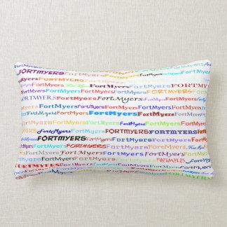 Fort Myers Text Design II Lumbar Pillow