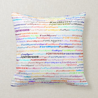 Fort Myers Text Design II Throw Pillow
