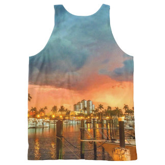 Fort Myers Yatch Basin All-Over-Print Tank Top