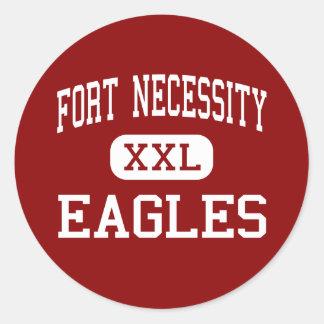 Fort Necessity - Eagles - Junior - Fort Necessity Round Stickers