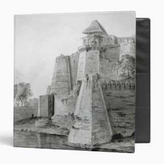 Fort on the Yamuna River, India 3 Ring Binder