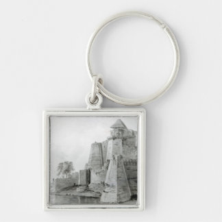 Fort on the Yamuna River, India Keychain