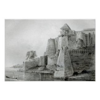 Fort on the Yamuna River, India Poster