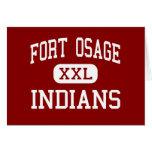 Fort Osage - Indians - High - Independence Greeting Cards