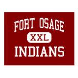 Fort Osage - Indians - High - Independence Post Cards