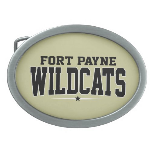 Fort Payne High School; Wildcats Oval Belt Buckles