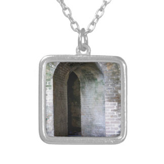 Fort Pickens Walkway Silver Plated Necklace