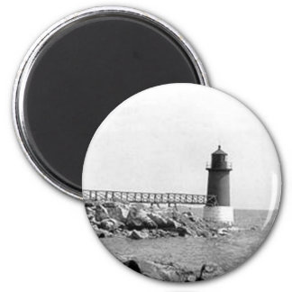 Fort Pickering Lighthouse 2 Inch Round Magnet