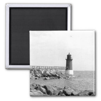 Fort Pickering Lighthouse 2 Inch Square Magnet