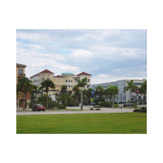 fort pierce downtown south view gallery wrapped canvas