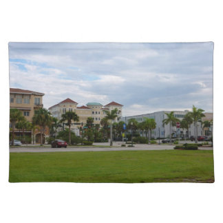 fort pierce downtown south view place mats