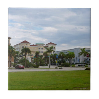 fort pierce downtown south view small square tile