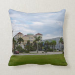 fort pierce downtown south view throw pillow