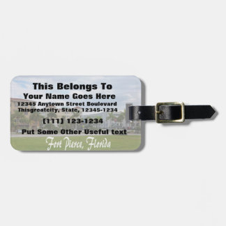 fort pierce downtown south w text bag tag