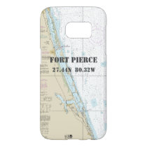 Fort Pierce FL Latitude Longitude Nautical Chart Samsung Galaxy S7 Case