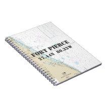 Fort Pierce FL Latitude Longitude Nautical Chart Spiral Notebook