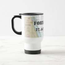Fort Pierce FL Latitude Longitude Nautical Chart Travel Mug