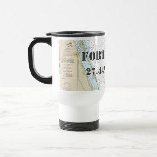 Fort Pierce FL Latitude Longitude Nautical Chart Travel Mug