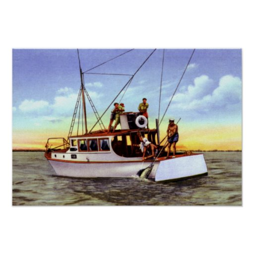 Fort Pierce Florida Charter Fishing Posters