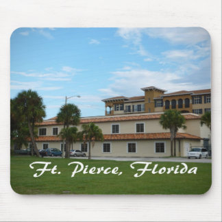 fort pierce florida downtown library mousepads