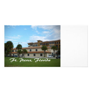 fort pierce florida downtown library photo greeting card
