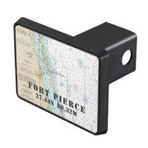 Fort Pierce Florida Latitude Longitude Nautical Tow Hitch Cover