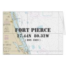 Fort Pierce Florida Nautical Navigation Chart Card