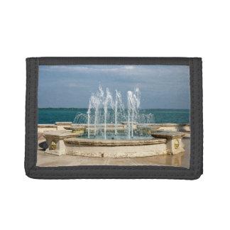 fort pierce fountain template nylon tri-fold wallets