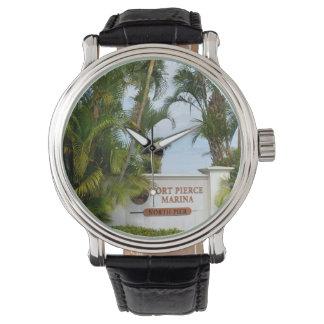 fort pierce marina sign florida scene tourist wristwatch