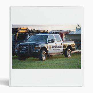 fort pierce police department pickup truck vinyl binder
