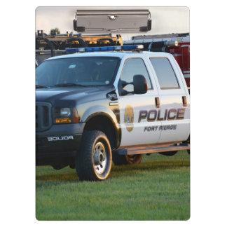 fort pierce police department pickup truck clipboard