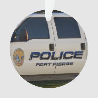 fort pierce police department pickup truck closeup