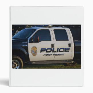 fort pierce police department pickup truck closeup 3 ring binder