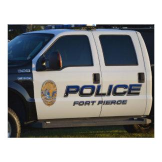 fort pierce police department pickup truck closeup custom flyer