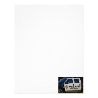 fort pierce police department pickup truck closeup letterhead