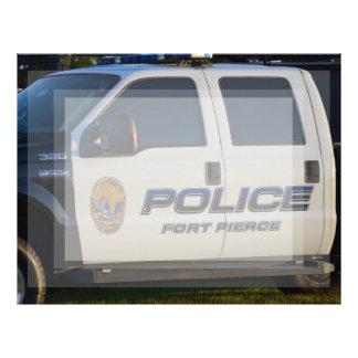 fort pierce police department pickup truck closeup customized letterhead