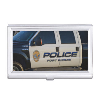 fort pierce police department pickup truck closeup business card holders