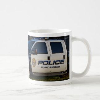 fort pierce police department pickup truck closeup mug