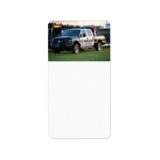 fort pierce police department pickup truck personalized address labels