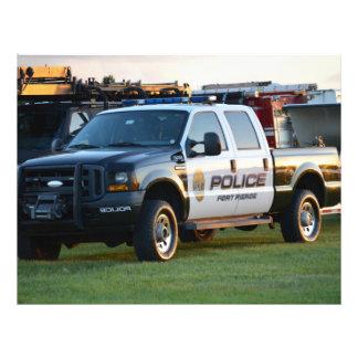 fort pierce police department pickup truck letterhead design