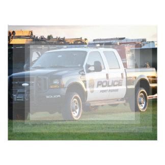 fort pierce police department pickup truck customized letterhead