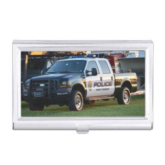 fort pierce police department pickup truck business card holder