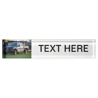 fort pierce police department pickup truck name plates