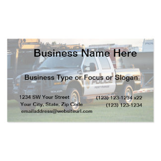 fort pierce police department pickup truck business card