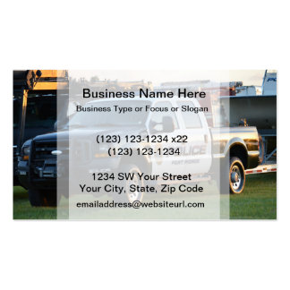 fort pierce police department pickup truck business cards